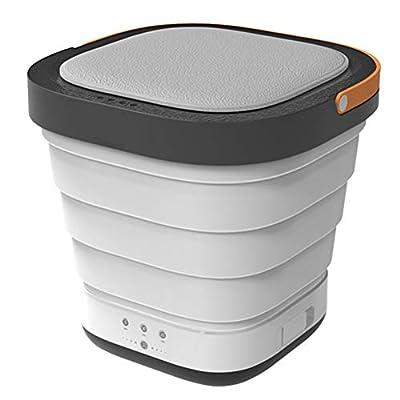 KKPLZZ Mini Foldable Washing Machine, Portable Mini Washing Machine Folding Laundry Tub Basic Automatic Clothes Washing Machine