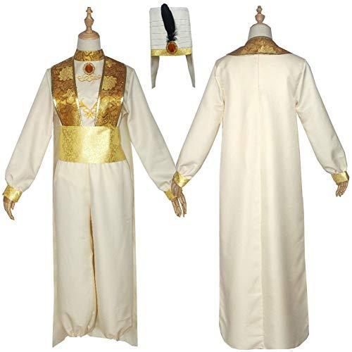 JJZXLQ Disfraces de Halloween Aladdin y la Lmpara Mgica Aladdin Cosplay Disfraz para Adulto Jasmine Aladdin Traje de Disfraces XXL