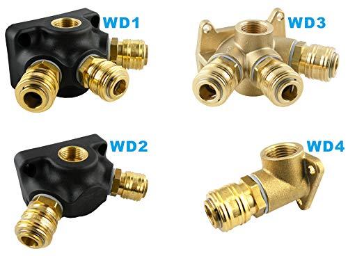 Druckluft Set Druckluftdose Druckluftstecker NW 7,2 Messing 6 mm bis 13 mm