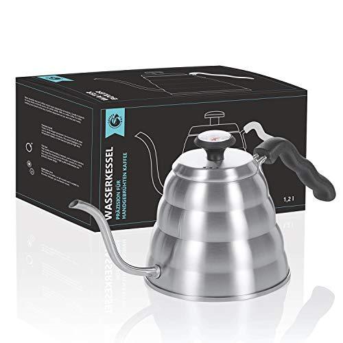 Hervidor de agua de 1,2 litros con termómetro; hervidor de café, hervidor...