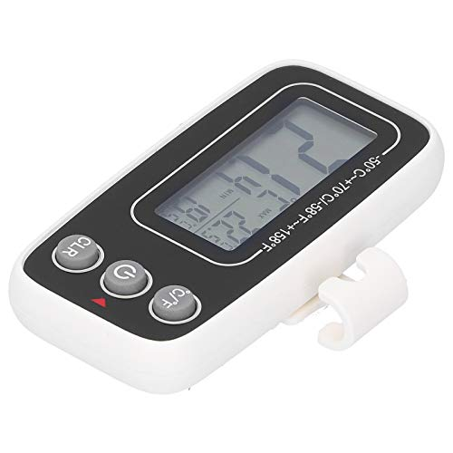 Socobeta Herramienta de medición Función de Memoria de precisión de medición a Prueba de Agua Termómetro doméstico Duradero para Uso en refrigerador