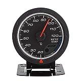 水温計ゲージ、LED水温温度計20-120℃ユニバーサルデジタルブルーレンジメーター自動レース車水温計