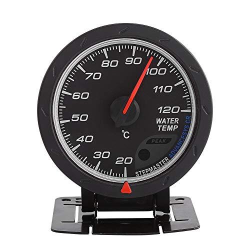 Termómetro de agua para coche, universal, digital, LED, azul, medidor de temperatura de agua de 20 a 120 °C, medidor de rango para auto de carreras