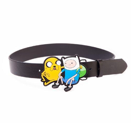 Adventure Time Black Belt With Jake & Finn 2D Buckle, Large