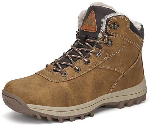 Mishansha Winterstiefel Herren Winter Schuhe Wärme Wasserdicht Outdoorschuhe rutschfeste Wanderschuhe Atmungsaktiv Outdoor Schneesstiefel Gelb Stiefel 47