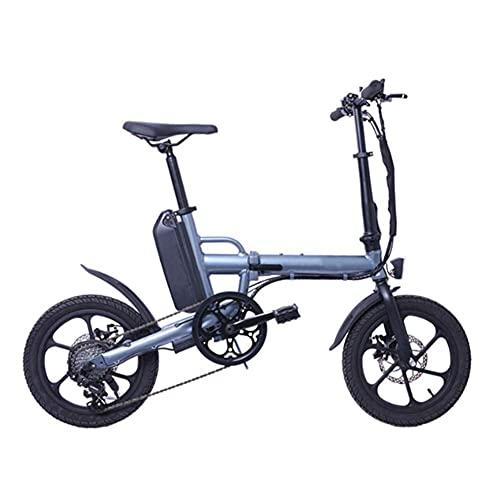 WXDP Semovente Bicicletta elettrica Pieghevole per Adulti, Mini Bicicletta elettrica con Batteria al Litio da 36 V 13 Ah per Aumentare Le Biciclette elettriche Freno a Doppio Disco con Cambio a 6