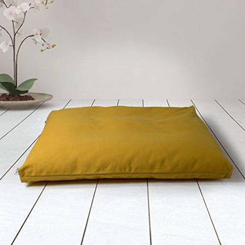 ZAFUKI Estera de meditación/Zabutón/Relleno Fibra de algodón 100% Reciclado/Base para...