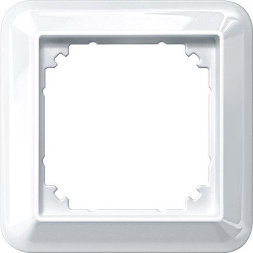 Merten 388119 Atelier-M-Rahmen, 1fach, polarweiß glänzend, 1x, 1 Fach