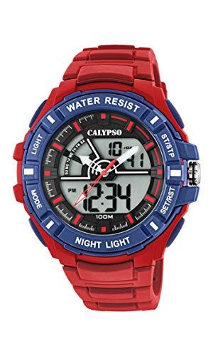 Calypso Watches Reloj Analógico-Digital para Hombre de Cuarzo con Correa en Plástico K5769/3