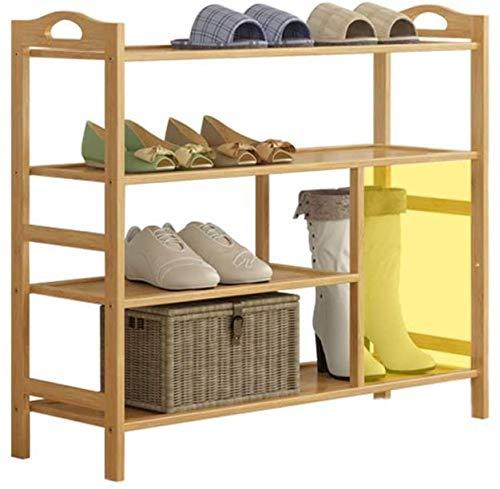 Zapatero, bambú Multi-capa resistente a prueba de polvo Montaje de zapatos para el hogar,Wood color-80 * 26 * 70Cm