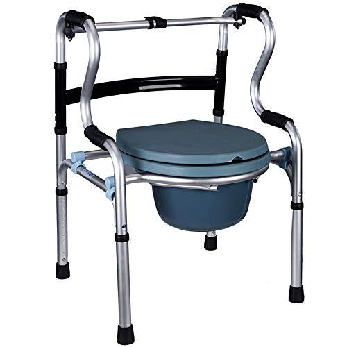 Hyzb Silla para discapacitados andadera de aleación de Aluminio Grueso Plegable para Hombre Viejo (sin Rueda/sin Placa de Asiento)
