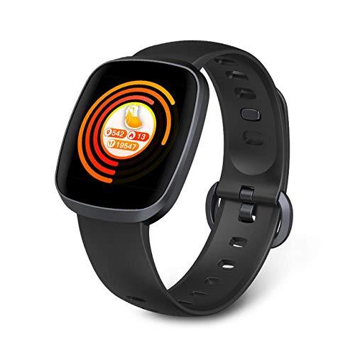 Oyznsb Touchscreen horloge intelligente smartwatch armband voor dames heren dames sport fitness tracker waterdicht voor Android iOS, Zwart