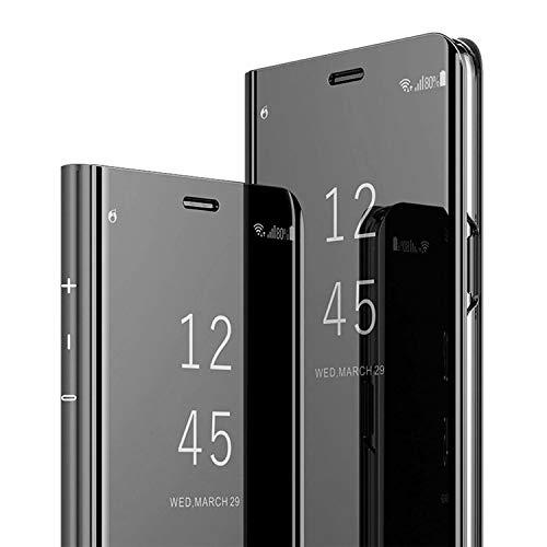 AICase Funda para Samsung Galaxy S8 Plus,Samsung Clear View Cover Flip Cover Carcasa,Soporte Plegable,Case de Teléfono para Samsung Galaxy S8 Plus