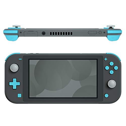 eXtremeRate Tasten Kit für Nintendo Switch Lite,ABXY-Knopf Steuerkreuz Home-Knopf Aufnahmeknopf Plus/Minus-Knopf L/R-Taste ZL/ZR-Trigger,Komplett Set Ersatzteile mit Werkzeug-Himmelblau