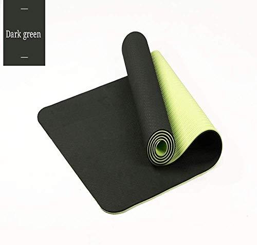 QZ 147258 Professionista Classico Tappetino Yoga TPE Antiscivolo Uomini e Donne Ispessimento Yoga, Pilates e Ginnastica 183 x 61 x 0.6CM, Dimensione: 183x61x0.6CM, Colore: Navy