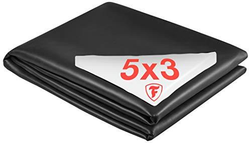 Firestone Teichfolie PondGard EPDM - vulkanisiert schwarz 1 mm - für professionelle Anwendungen - Zuschnitt 3,05 x 5 m