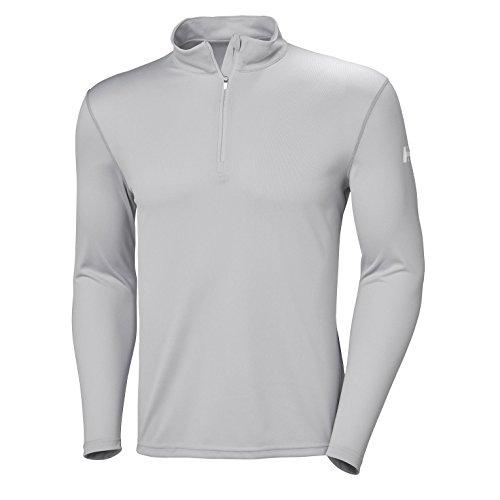 Helly Hansen Men's Moisture Wicking Tech 1/2 Zip Top, Light Grey, 3X-Large