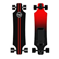 DURABLE - Featuring U shape design and stronger trucks, 7 layers maple deck longboard retains the flex and sturdy quality. FAST - Powered by high-performance brushless dual hub motor giving it a smooth streamlined power and max speed 18.6 mph. HIGH P...