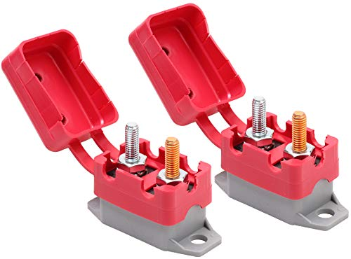 Fastronix 30A 12V Type 1 Automatic Reset Circuit Breaker with Cover 2 Pack
