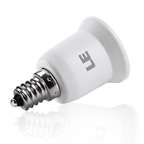 LE E17 to E26 Light Socket Adapter, Bulb Base Converter, Pack of 6