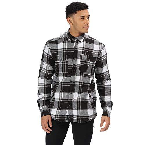 Regatta Chemise Moletonnée à Carreaux Tygo Shirts Homme Black FR: M (Taille Fabricant: M)