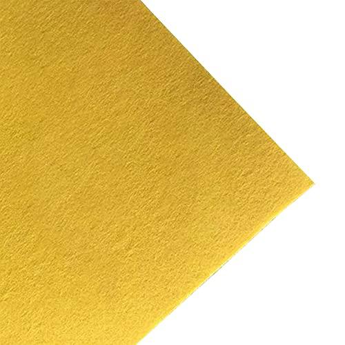 JUANJAUN Hoja de Tela de Fieltro Suave 4 mm de Espesor Patchwork Costura Manualidades para Manualidades DIY Cuadrados no Tejidos(Size:4mm,Color:No. 1 Yellow)