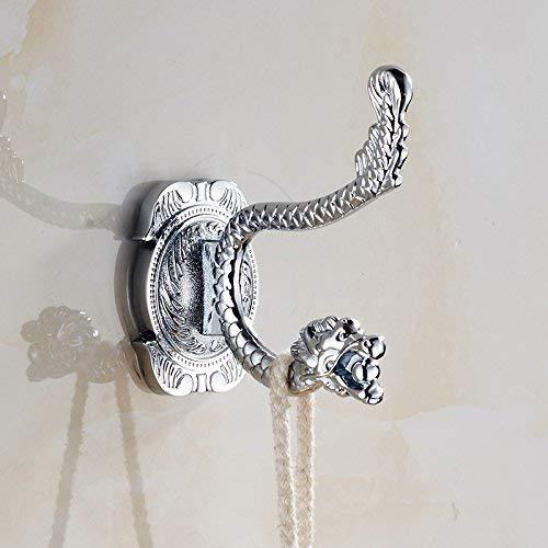 Professionele wastafel mixer kraan keuken kraan antieke gouden Phoenix staart reliëf deur haak badkamer, zilver draak hoofd gebogen haak
