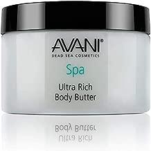 Avani Ultra Rich Body Butter - Dead Sea Salt, Aloe Vera, Vitamin E, Shea, Jojoba, Sunflower, Olive Essential Oil - Natural Exfoliating & Moisturizing Scrub for All Skin Types - Pear/Apple Fragrance