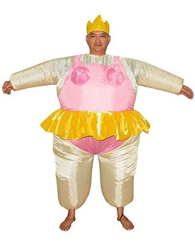 LaoZan déguisement Gonflable Sumo Costume d'halloween Costume Sumo Pink
