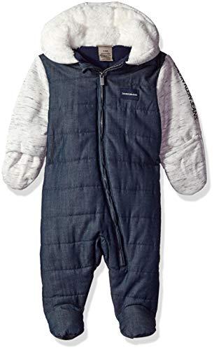 Calvin Klein Baby Boys PRAM, Blue Chambray/Oatmeal, 3-6 Months
