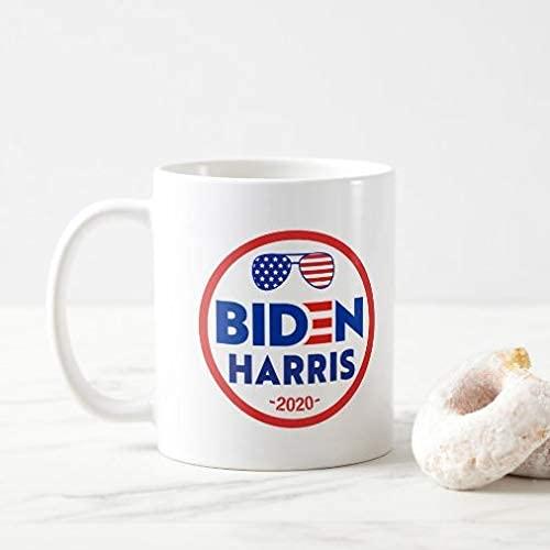 N\A President Coffee Mug 11oz Coffee Tea Cup Flag Gafas de Sol 2020 U.S. President Kamala Harris 2020 Coffee Mug Novedad Taza de café para Hombres Mujeres Festival de cumpleaños Navidad