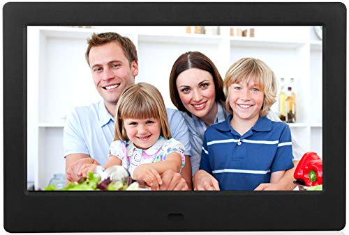 Advance 8 Inch Digital Picture Frame, HD IPS Display with Motion Sensor, Auto-Rotate and Enlarge, Electronic Photo Frame Display Video Music and Pictures via USB or SD Card (Black) Digital Frames Picture