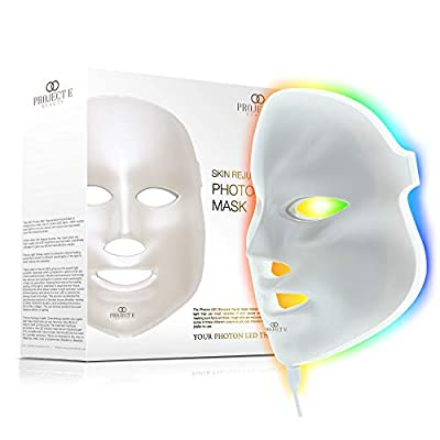 Project E Beauty LED Photon Therapy 7 Color Light Treatment Skin Rejuvenation Whitening Facial Beauty Daily Skin Care Mask from Project E Beauty