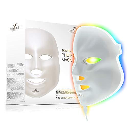 Project E Beauty LED Photon Terapia 7 Trattamento di luce di colore ringiovanimento della pelle Whitening mascherina facciale bellezza della pelle cura giornaliera