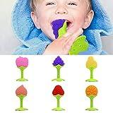 Laifeng ZIMO, Balcherlam bebé estereoscópica Frutas silicón de la Forma de mordedores, Entrega Color al Azar