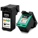 Gohepi 350XL/351XL Compatible pour Cartouches HP 350XL 351XL, 1 Noire/1 Tri-couleur...