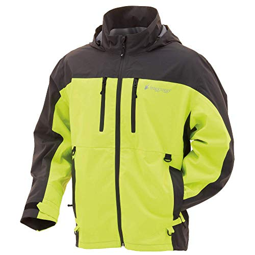 Frogg Toggs Pilot II Guide Rain Jacket, Hivis/Charcoal Gray, Size Medium