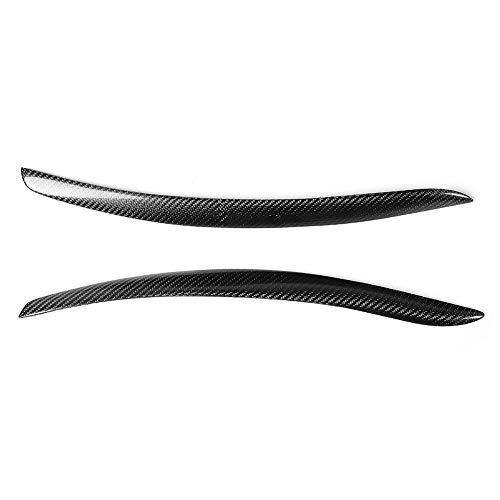 Scheinwerfer-Augenbraue, 2pcs Universal-Carbonfaser-Scheinwerfer-Augenbraue-Augenlid-Aufkleber-Ordnung gepasst für E92 M3 2005-2012