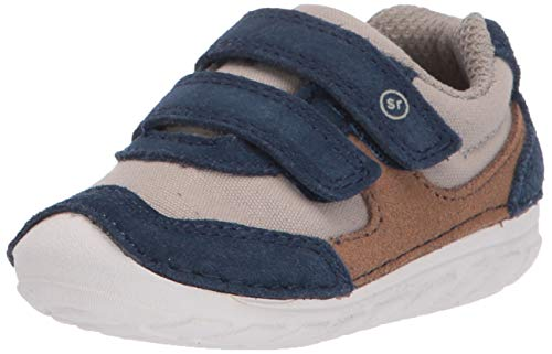 Stride Rite baby boys Soft Motion Mason Athletic Sneaker, Navy/Truffle, 5.5 Toddler US