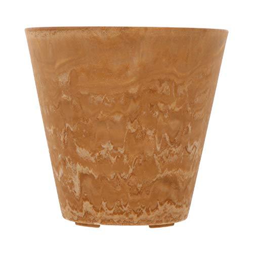 VILLCASE Vaso da Giardino in Stile Nordico Vaso da Fiori Rotondo in Resina Decorativa per Decorazione da Giardino da Interno Esterno (Giallo Sabbia)