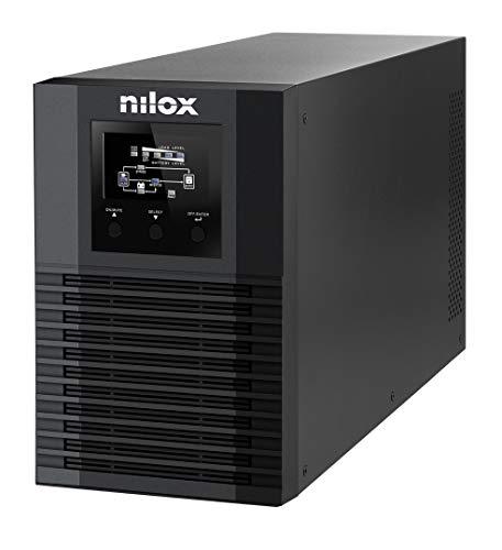 Nilox, UPS Premium OnLine Pro LED da 1.500VA 1.050W, UPS con Tecnologia a Doppia Conversione, Protegge Server, Workstation, Reti LAN e Computer da Blackout, con Tecnologia OnLine