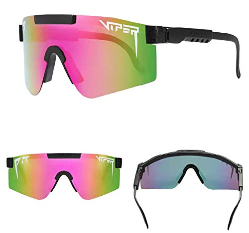 SKLEE Gafas de Montar, Gafas de Sol al Aire Libre, Gafas de Sol Gafas de Ciclismo al Aire Libre Gafas Deportivas UV400 Gafas de Sol polarizadas a Prueba de Viento para Adultos,D
