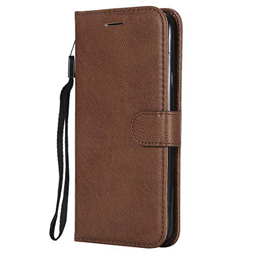 Yiizy handyhülle für Microsoft Lumia 640 LTE Ledertasche, Fashion Stil Lederhülle Brieftasche Schutzhülle für Microsoft Lumia 640 LTE hülle Silikon Cover mit Magnetverschluss Kartenfächer (Braun)