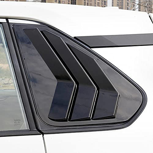 ZHAOOP Fit voor Toyota RAV4 XA50 2019 2020 2021 Auto Zubehör ABS Schwarz Hinten Fenster Jalousie Shutter Abdeckung Trim 2 stücke-Black_Color
