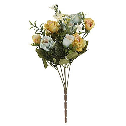 MLLULL MLLULLbruiloftsboeket hoek kunstbloemen decoratie bruiloft weg leiden bloem muur plant muur kunstbloem Europees groen.
