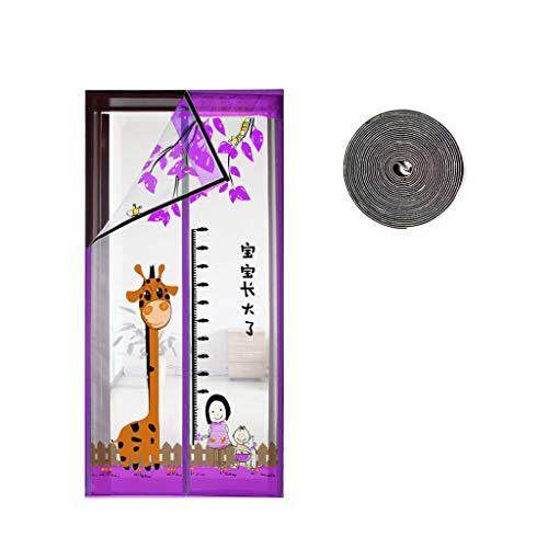 Huasa Magnetische deurinsecten, schattig zomermagnetisch scherm, deurbedekking, dubbel roostergordijn met volledige frame, voor voordeur en huis buiten kinderen/huisdieren gaan door