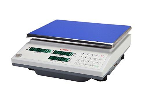 DZD DJ3KC tellweegschaal 0,1 g tot 3 kg met groot weegoppervlak en accu, perfect voor inventaris in het magazijn