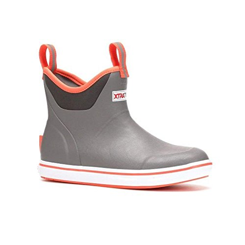 "Xtratuf Women's Salmon Sisters 6"" Ankle Deck Boot Grey/Coral"