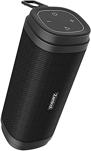 Enceinte Bluetooth Zamkol - Enceinte sans Fil Autonomie 10-15H, 30W, Bluetooth 5.0, Protection Waterproof IPX6 Améliorée - Idéal pour la Vie de Tous Les Jours, Les Fêtes,Les Picnics.