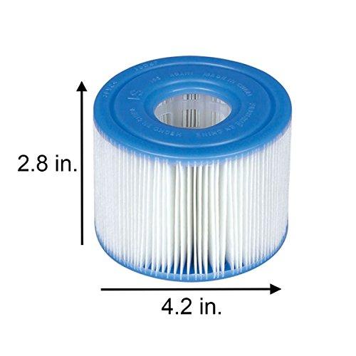 Intex 29001000000 B01DEMGBAI Intex-29001E PureSpa Type S1 Easy Set Pool Filter Cartridges, (6 Fil, 1-Pack, Blue